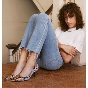 Snakeskin Pointed Toe Stiletto Heels